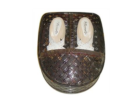 ตะกร้ารองเท้าหวาย+ไม้ไผ่-RTB-11