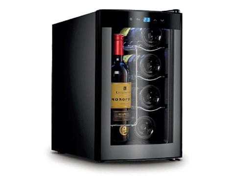 ตู้แช่ไวน์-ประตูกระจกโค้ง<br>25-ลิตร-(8-ขวด)