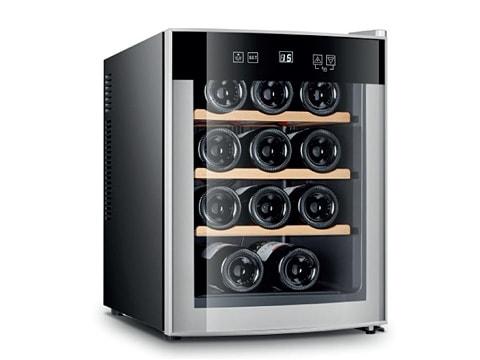 ตู้แช่ไวน์-ประตูกระจกโค้ง-33-ลิตร-(12-ขวด)-WCL-BCW-33A