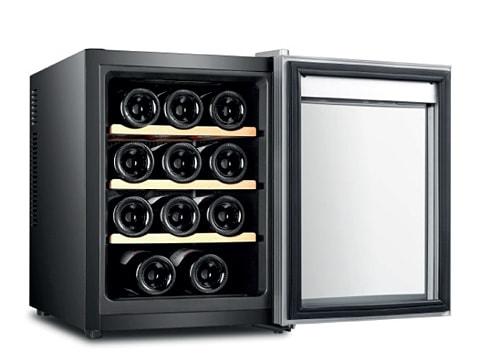 ตู้แช่ไวน์ ประตูกระจกโค้ง<br>33 ลิตร (12 ขวด)