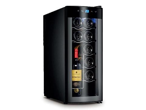 ตู้แช่ไวน์-ประตูกระจกโค้ง-35-ลิตร-(12-ขวด)