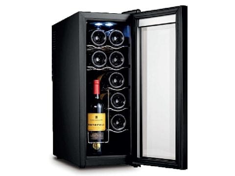 ตู้แช่ไวน์ ประตูกระจกโค้ง<br>35 ลิตร (12 ขวด)