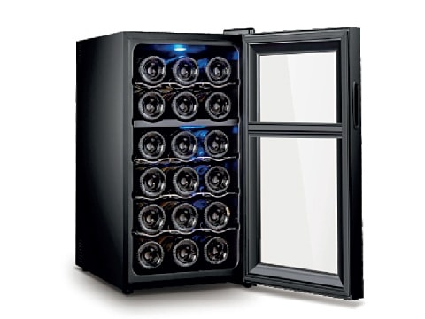 ตู้แช่ไวน์ 1 ประตู 2 ตอน<br>50 ลิตร (18 ขวด)