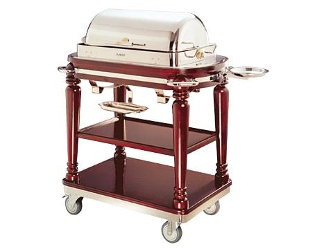 รถเข็นเสิร์ฟอาหาร+หม้ออุ่นอาหาร-(Buffet-Cart)-WEC-C-28