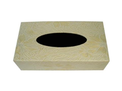 กล่องทิชชู่หนัง-ลายดอกไม้พิมพ์ลึก-TSB-PU-3