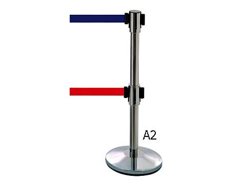 เสากั้นทางเดิน-(เชือกดึงกลับคู่)-RS-LG-A2-(xx)