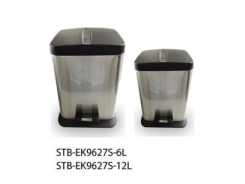 ถังขยะเท้าเหยียบสเตนเลส-STB-EK9627S-XL