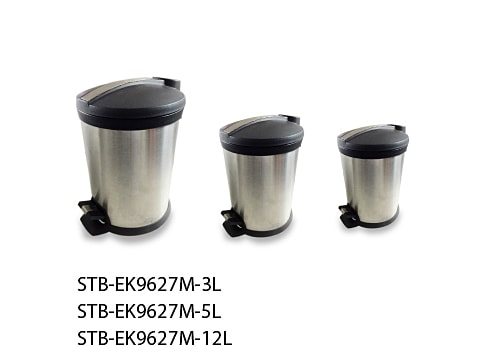 ถังขยะเท้าเหยียบสเตนเลส-STB-EK9627M-XL