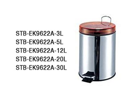 ถังขยะเท้าเหยียบสเตนเลส-STB-EK9622A-XL