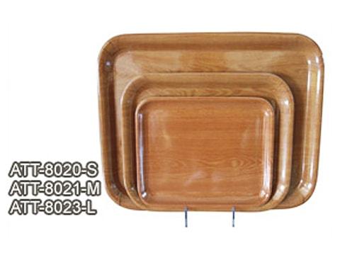 ถาดลายไม้ขอบมน-ATT-80(20-S)(21-M)(23-L)
